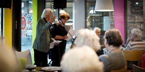 Jan & Gerda Siebelink tijdens de Nationale Voorleeslunch in Deventer (c) Rosa van Ederen